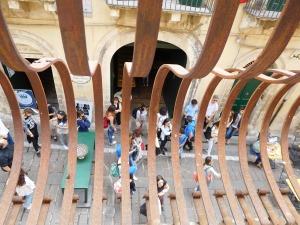 Bulgy balconies in Noto